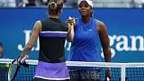 Townsend finds secret to success at the net in Halep upset