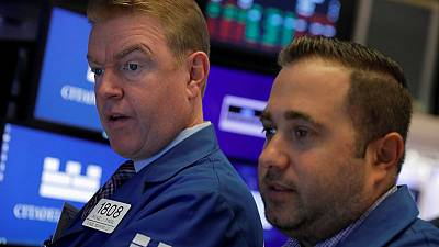 Global stocks edge higher but post monthly loss; yuan weakens as tariffs loom