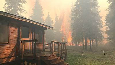 As fall begins in Alaska, wildfires linked to warming rage on