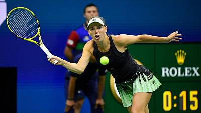 Wozniacki safely into third round with win over Collins