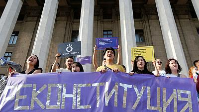 Adopting softer stance, Kazakhstan allows small-scale protests