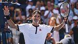 Federer razor sharp in win over Evans