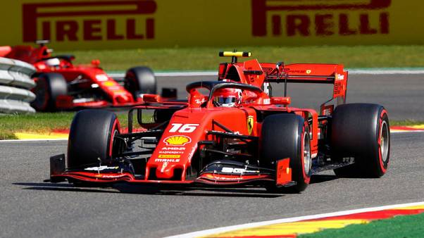 Leclerc completes Ferrari practice sweep, Hamilton crashes