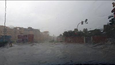Violento temporale a Cagliari e Sulcis