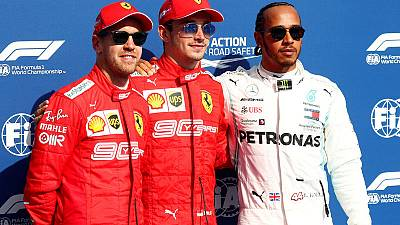 Leclerc leads Ferrari front row lockout in Belgian GP qualifying