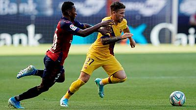 Fati becomes Barca's youngest ever scorer in La Liga with strike at Osasuna