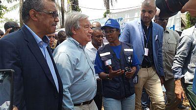 Antonio Guterres en visite à Mangina, premier foyer de l'épidémie Ebola dans l'est de la RD Congo