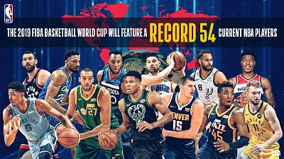 Record 54 Current Nba Players To Compete In  2019 Fiba Basketball World Cup