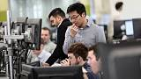 FTSE 100 gains as pound dips on rising election chances