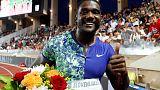 Athletics - World champion Gatlin OK after hamstring scare