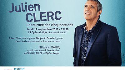 Julien Clerc en concert le 12 septembre à l'opéra d'Alger