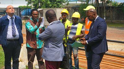 Visite de l'Ambassadeur sur le chantier de la « Villa Gaboma »