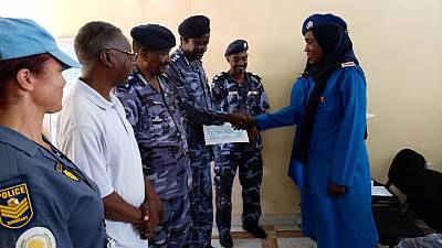 UN State Liaison Functions provide Human Rights training to Sudan Police in North Darfur