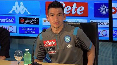 Lozano, da CR7 complimenti per il gol