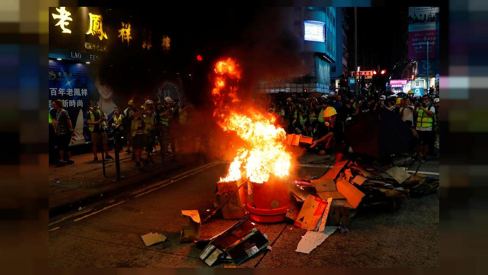 Hong Kong police break up protests as summer of discontent