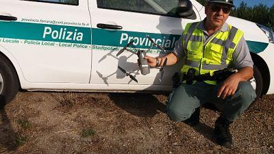 Cacciatore 'multato' da un drone