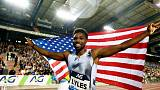 Lyles completes sprint double before world championships