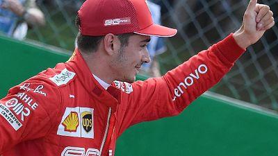 """F1, leclerc """"mi sento molto bene"""""""