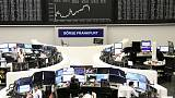 European shares inch up on strong German data, stimulus hopes