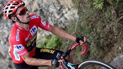Vuelta: tappa a Fuglsang, Roglic leader