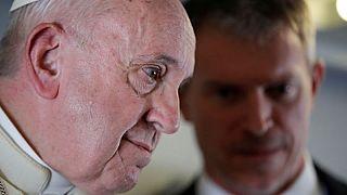 Pope says Britain should obey U.N., return islands, including U.S. base