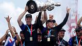 America's Cup holders Team New Zealand begin trials of new boat