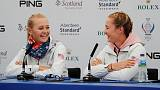 Korda sisters paired on opening morning at Solheim Cup