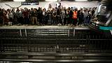 Paris commuter chaos as metro workers strike over pension reform