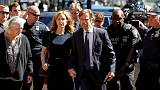 Actress Felicity Huffman arrives at court for U.S. college scandal sentencing