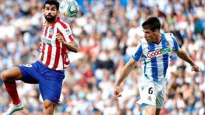 Atl.Madrid a picco, 2-0 dalla R.Sociedad
