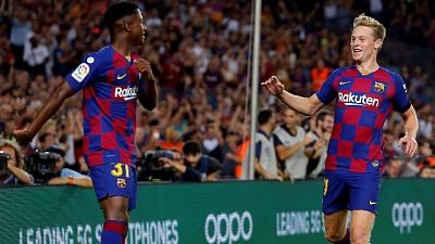 'Manita' del Barcellona al Valencia
