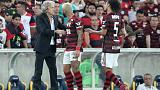 Flamengo beat Santos 1-0 to top table at halfway stage