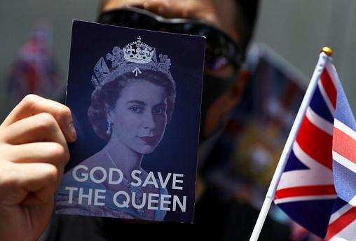 Hong Kong protesters sing 'God Save the Queen' in plea to former colonial power