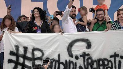 Salvini,bimba su palco? Chi se ne frega