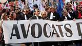 Doctors, lawyers and pilots protest in Paris over pension reforms