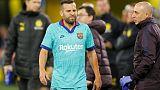 Barca defender Alba sidelined with hamstring injury