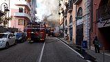 Bus in fiamme a Potenza:auto danneggiate