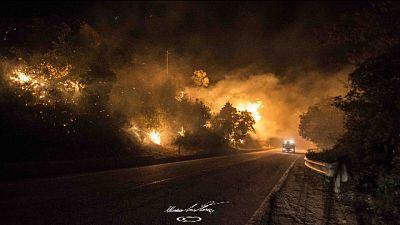 Incendi: a Sarno cittadini evacuati