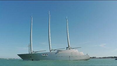 A Venezia lo yacht a vela più grande