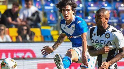 Udinese-Brescia 0-1 nel primo anticipo