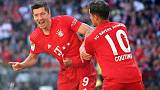 Lewandowski double as Bayern crush Cologne to go top