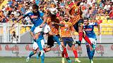 Napoli thrash Lecce to move upto third, Roma grab late win at Bologna