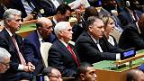 U.S. Commerce Secretary Ross denies falling asleep during Trump's U.N. speech