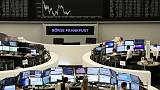 European shares stumble as techs drop; political uncertainty in Washington weighs