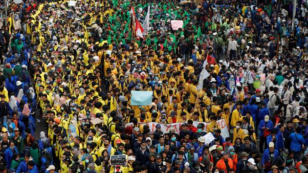 Indonesia student protests against law changes enter third day