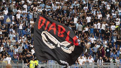Omaggio curva dell'Inter a 'Diabolik'