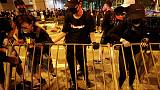 Hong Kong protesters block streets at stadium after leader's 'open dialogue'