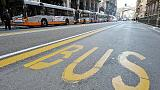 Incidente a bus con freni rotti,1 ferito