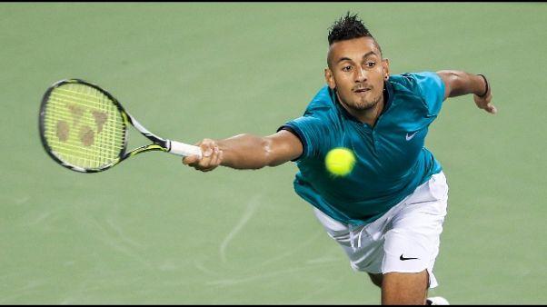 Tennis: mano pesante Atp con Kyrgios