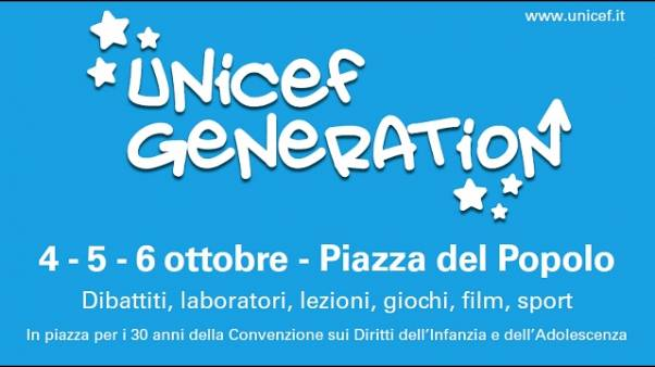 A Roma al via 'Unicef Generation'